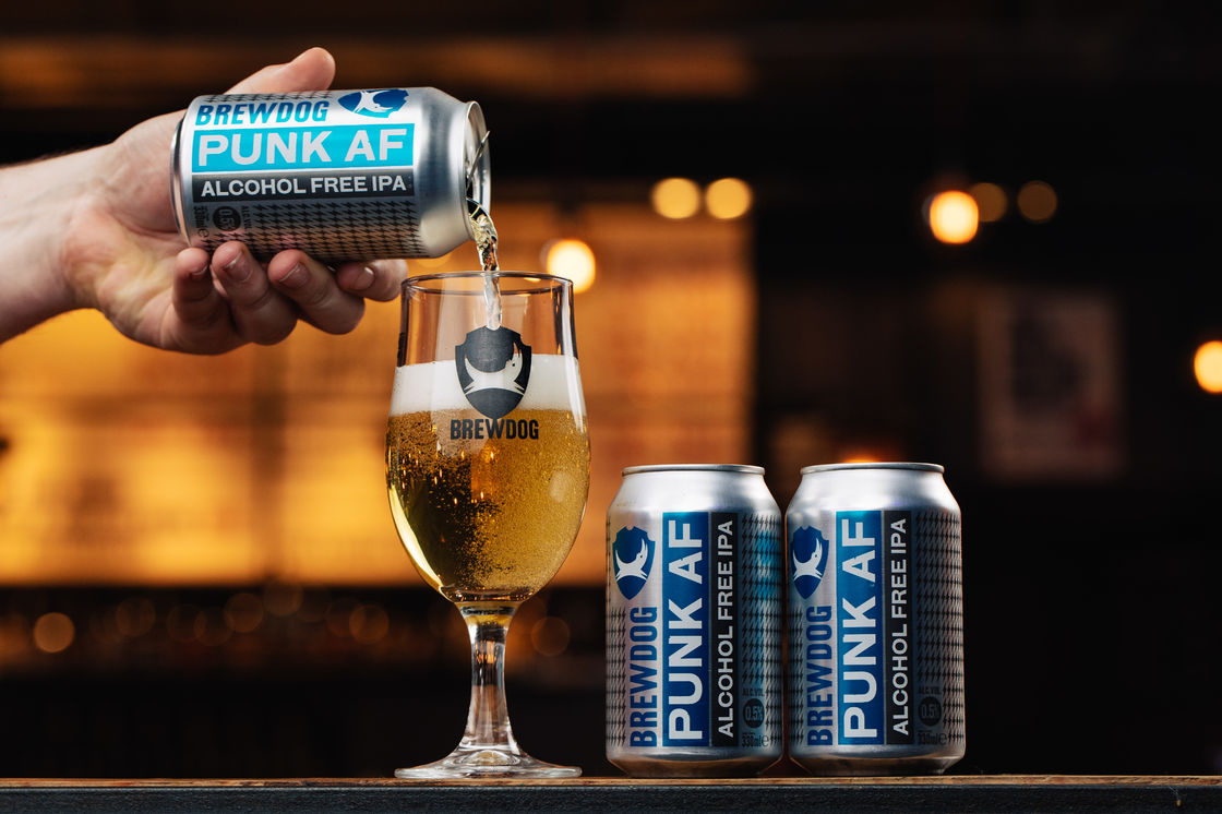 ALCOHOL FREE BEER JUST GOT PUNKED UP. THIS IS PUNK AF.