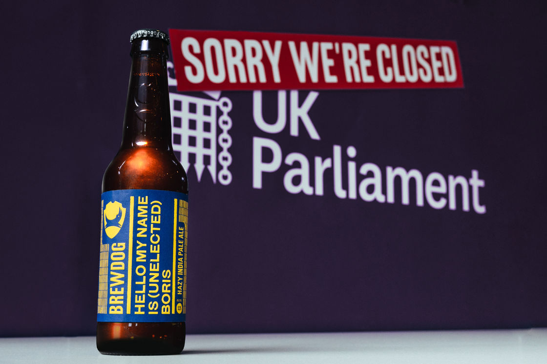 One for the fridge, not the cabinet: BrewDog launches new beer to highlight the 'craziness' of current UK politics.
