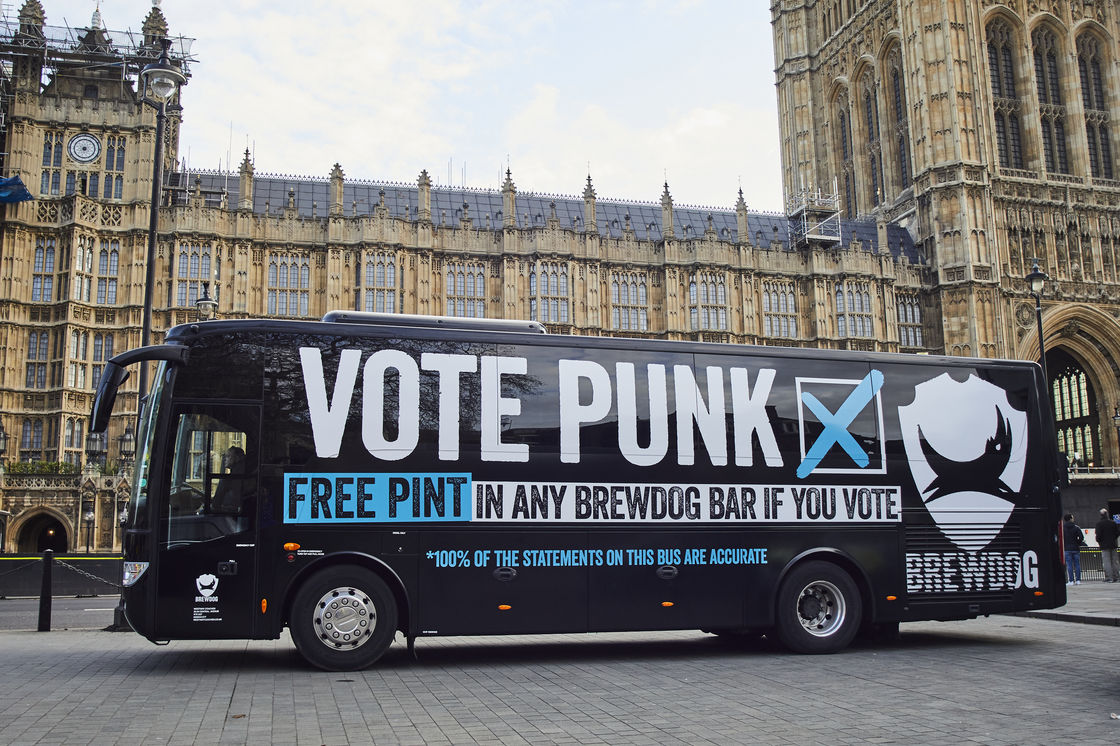Vote Punk: BrewDog To Buy A Pint For Every Voter