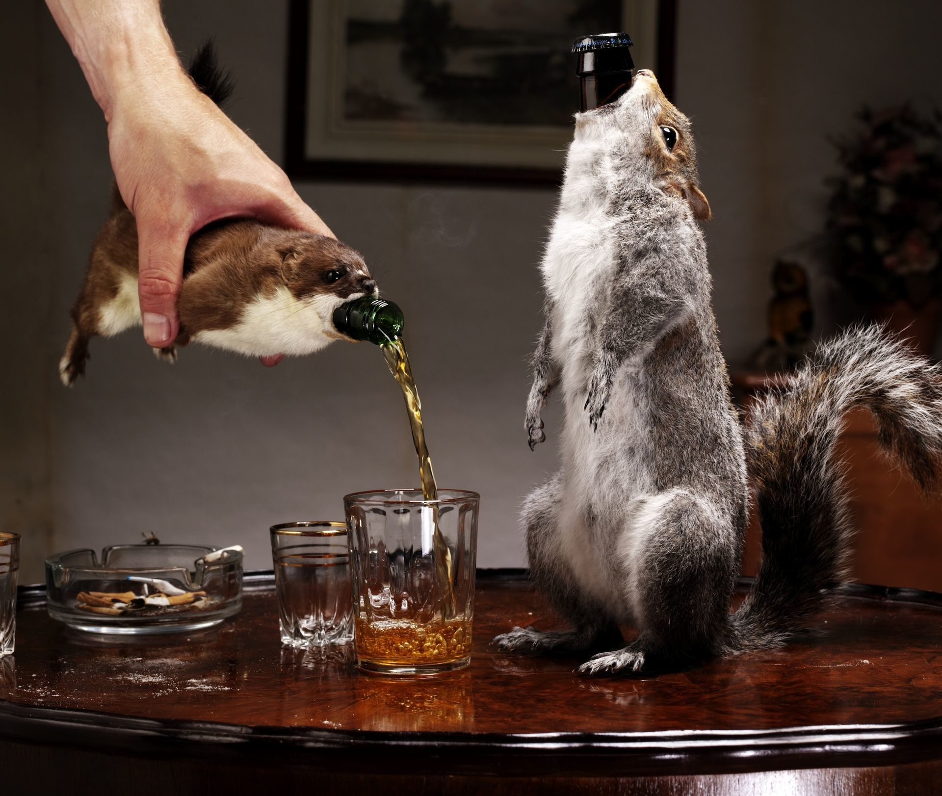 Limited edition, 55 percent ABV concoction, contained within taxidermy squirrels, to be made available exclusively for Equity for Punks USA investors