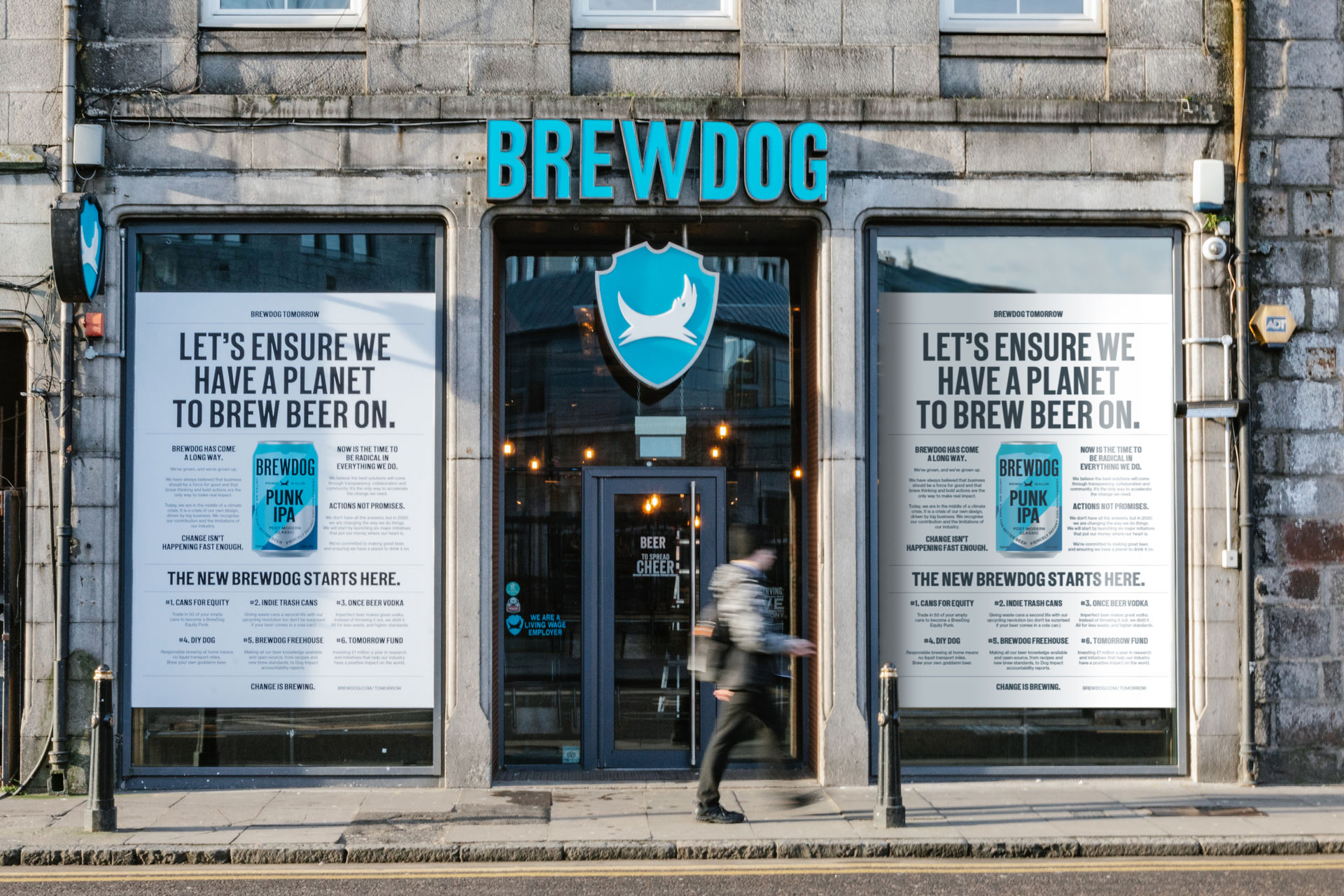 From 2007 to 2020. BrewDog have today launched their new identity and sustainability initiatives.